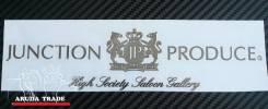 Большая металлизированная наклейка Junction Produce (JP) (хром)