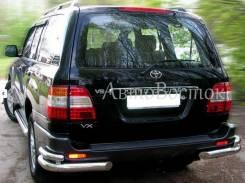 Металлическая Защита заднего бампера (Уголки) Toyota Land Cruiser 100