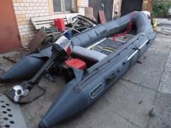 Продам лодку надувная резиновая 4400 длинна+телега