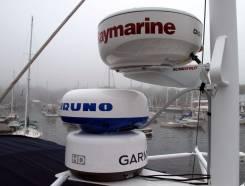 Установка ремонт навигационного оборудования Furuno Garmin Raymarine