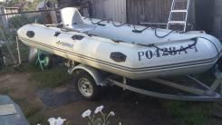 Продам лодку пвх 4м. +мотор тохацу 18 + прицеп все в отличном состояни