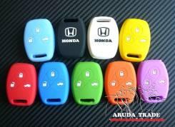 Силиконовый чехол на смарт ключ Honda 3 кнопки
