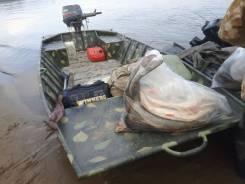 Продам за 73 тыс. руб. алюминиевая моторная лодка плоскодонка.