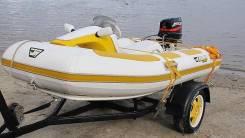 Мотор Меркури. В комплекте лодка, мотор и прицеп.