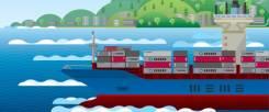 Владивосток -> Сахалин от 100кг. Морские перевозки. 2400р м3