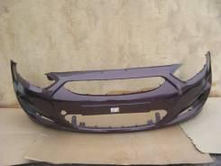 Hyundai Solaris 10-14 Бампер передний окрашенный Фиолетовый PXA