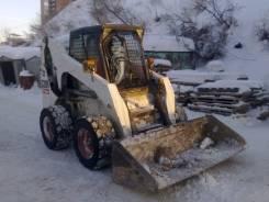 Аренда минипогрузчика Bobcat S300 ковш, вилы, щетка.4ч от 1000 руб/ч