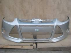 Ford Focus III 11- Бампер передний окрашенный Серебро