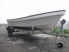 "Продам лодку ""Бриз 14"" мотор "" Tohatsu "" 15л/с , телегу"