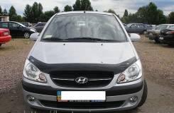Дефлектор капота (мухобойка) Hyundai Getz 2006-2010 темный