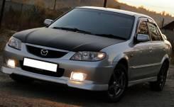 Дефлекторы окон (ветровики) Mazda Familia 97-03 седан