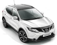 Дефлектор капота SIM (мухобойка) Nissan Qashqai 2013-2019 J11 темный