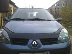 Дефлектор капота (мухобойка) Renault Symbol 2002-2008 темный