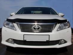 Дефлектор капота SIM (мухобойка) Toyota Camry 50 2011-2014 темный