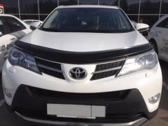 Дефлектор капота (мухобойка) Toyota RAV-4 2013-2019 темный с подгибом