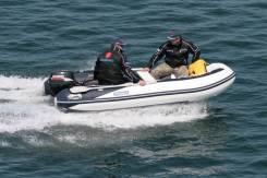 Лодка надувная ПВХ Forward MX350RIB, сине-белая, дно пластиковое
