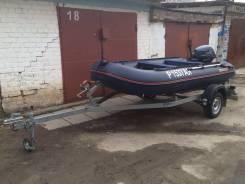 Продам моторную лодку на прицепе