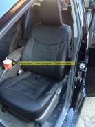 Штатные чехлы из эко кожи. Модельные. Toyota Prius 30 / Приус (Черные)