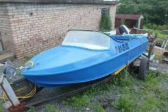 Лодка моторная с телегой Неман-2, мотор Suzuki- 30 2010 г