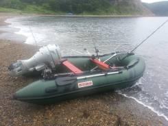Лодка надувная ПВХ Suzumar DS360AL, зеленая, пол алюминиевый