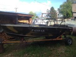 Продам моторную лодку прогрес, с рулевым управлением, телегой.
