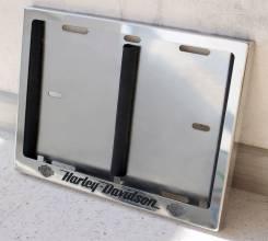 Моторамка для номера из нержавеющей стали Harley-Davidson