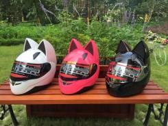 Женский мото шлем, кошка , NitriNos, новый, выбор размера . Отправка