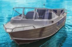 Алюминиевая моторная лодка с рулевым управлением Wyatboat 430М