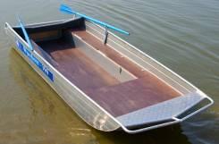 Алюминиевая моторная лодка Wyatboat 390 (плоскодонка) от производителя