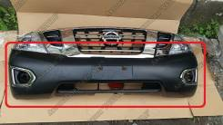 Бампер рестайлинг Nissan Patrol Y62 ( Патрол 2015)  (под покарску)
