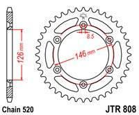 Звезда задняя (ведомая) JTR 808.53