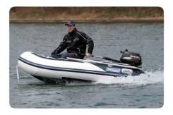 Лодка ПВХ Forward MX290FL, дно пайольное деревянное, сине-белая