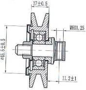 Ролик натяжителя кондиционера TOYOTA 1KZ/2L/3L/5L/1B/15B/3B/1FZ