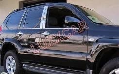 Накладки на стойки дверей Toyota Land Cruiser Prado 150 (Нержавейка