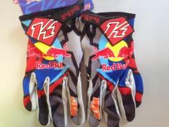 Мото перчатки KI NI3 RED BULL, кроссовые мотоперчатки размер XL