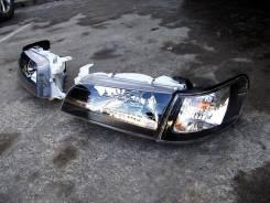 Комплект Фары + габариты Toyota Corolla E100 Черный Хрусталь