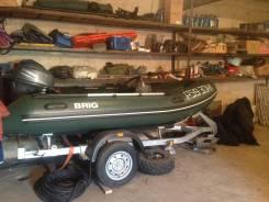 Новые Лодка RIB BRIG с рубкой, мотор 4-х такт Yamaha 20 л. с., прицеп