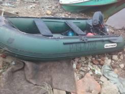 Лодка резиновая с подвесным мотором