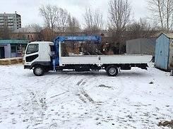 Перевозка грузов, грузовик с манипулятором