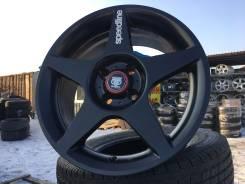 Оригинальные чёрные редкие спорт-диски Speedline R16 4*98Made in Italy