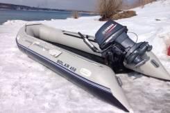 """Лодка надувная транц. """"Солар-450 МК"""" светло-серый"""