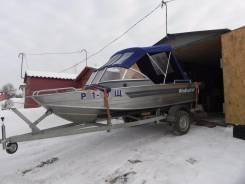 Моторная лодка Windboat46, Xonda BF 50 D, Прицеп МЗСА в Твери.