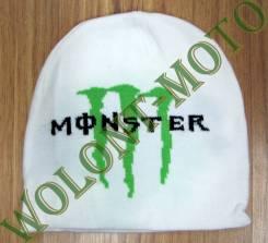 Шапка Monster бело зеленый