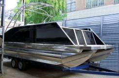 Понтонный катер тримаран с тауэром для вейкборда