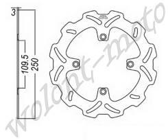 Тормозной диск передний JT JTD2116SC01 Kawasaki KX125-06-08/KX250F