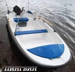 Новая моторная лодка Пингвин с тримаранными обводами от производителя