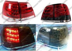 Задние фонари, стопы Land Cruiser 200 07-15 стиль Lexus LX570 3 вида