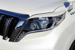 Накладка на фару. Toyota Land Cruiser Prado, GDJ150, GDJ150L, GDJ150W, GRJ150, GRJ150L, GRJ150W, KDJ150, KDJ150L, LJ150, TRJ150, TRJ150L, TRJ150W. Под...