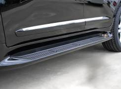 Подножки с подсветкой стиль Lexus для Land Cruiser200 в Благовещенске. Toyota Land Cruiser, GRJ200, J200, URJ200, UZJ200, UZJ200W, VDJ200