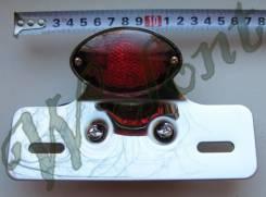 Стоп сигнал хром 1 фара красное стекло